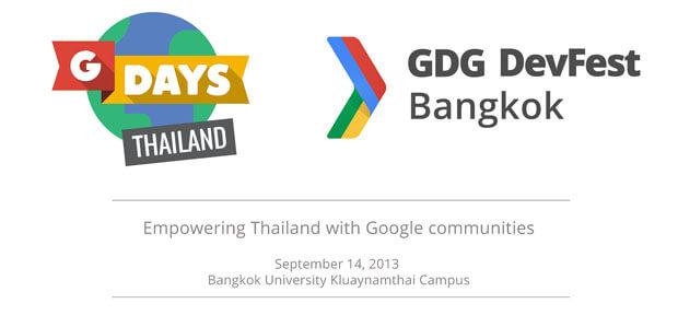 GDays-Thailand-GDG-DevFest-Bangkok