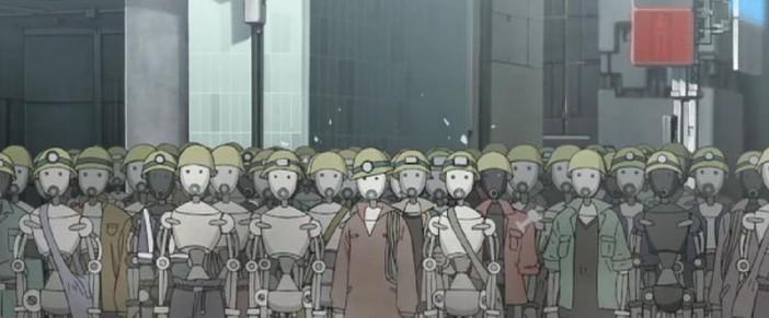 หุ่นยนต์ถูกกดขี่ใช้งานเยี่ยงทาสในภาพยนตร์ The Animatrix