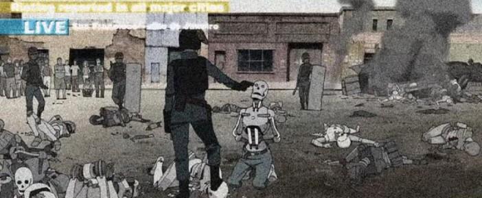 มนุษย์แสดงความรังเกียจต่อหุ่นยนต์ในภาพยนตร์ The Animatrix
