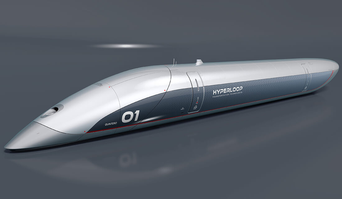 Hyperloop Capsule ที่มาของภาพ Hyperloop Transportation Technologies