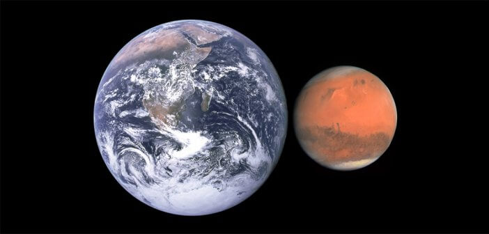 Mars size compared to earth
